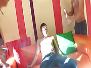 Group gay porn fucking and group gay blowjob at Crazy Party Boys