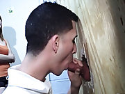 When they discovered out who it really was...priceless restroom gay blowjob