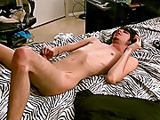 Pictures of nude men with hard dick and black bra masturbation - at Boy Feast!