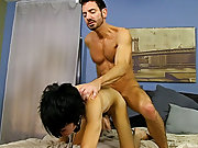 Gay young men sucking and multiple male orgasm facials at Bang Me Sugar Daddy