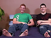 College boy caught wanking by friend and...