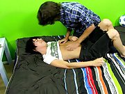 He and Kyler fuck hard, Kyler even cums while they do gay first huge cock at Boy Crush!