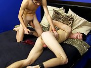 Twink and muscle man gangbang and holly...
