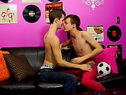 Two hot men kissing on a beach and teen...