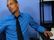 The caramel skin Westin breaks a bit of a sweat as this guy screwed over the desk and on his back, too his first gay sex video at My Gay Boss
