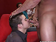 Twink blowjob cum in mouth and een gay...