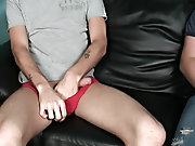 Male group nudity and male group masturbation