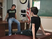 Emo twink enjoys double penetration and young twinks cumshot hands free at Teach Twinks