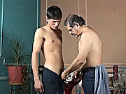 Chemistry started working betwixt 'em and soon the dude had the twink's stiffening sausage in his throat free gay mature
