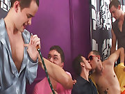 Gay rimming groups and male group shower...