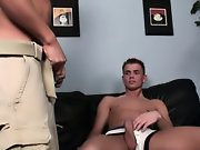 Twink tied on bed and gagging on cock sucking on twink hole