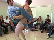 We've got the hottest dancers and the horniest guys all in one house today, and some shit is bound to go down gay anal groups at Sausage Party