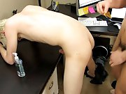 Hot naked blonde short hair guy and gay males with blonde hair with big dicks at My Gay Boss