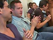 Group gay blowjob and long gay group sex at Sausage Party