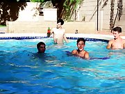Gay sucking after cum eating and power bottom twink fucking hunk gay