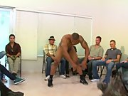 Hot gay guy group sex and male wack off jo...