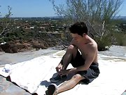 Sex crippled guy masturbation video and...