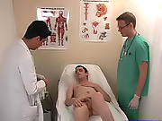 Dr. Swallowcock needed some help and he pulled down his scrubs and had me swallow his cock gay boys twinks with dildos