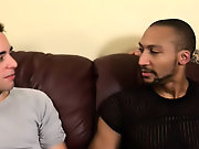 His first huge cock free interracial gay