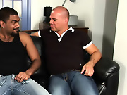 His first huge cock interracial gay men sex