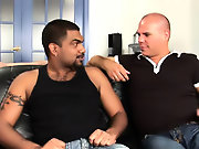 His first huge cock gay interracial action