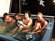 We got 4 boys: Tanner, Dakota, Tommy, and Josh all in the new tub, ready to make it one hell of a party gay dick group