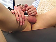 Jake strokes his cock lesiben gay masturbation