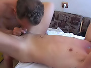 But soon he had to obey and let this energetic faggot enter his tight asshole, and cum inside mature gay free porn