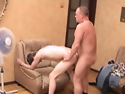 The boy kept working on the shaft until it was rock hard and ready to slam his hot ass mature men free naked
