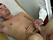 I made him more comfortable and he took over stroking his cock as I was checking him over sexy boy first sex