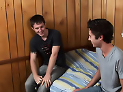 Watch Landon take this bi-curious only just legal birthday boy into his extent where he unwraps his package for Matt to stack on my first sex teacher