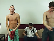 As Leon was only going to top, he would get $1000 with Ashton and Preston making $1500 each male group sex porn