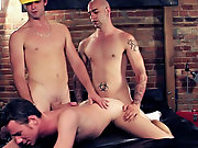 Sam is at it again as he breaks in the sweet tight cocoa-hole off hot construction stud Zane amateur bad boy