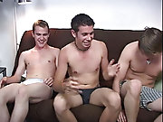 Robert and Dexter were out of their underwear pretty early on stroking their cocks, but Alden just slipped his cock out the fly twink gay blowjob
