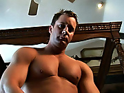 Hot poke fun at, dazzling muscles, big cock and an dreadful pop muscleman oral gay sex