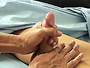 This lackey is beautiful with an adorable face, perfectly smooth body, cute little treasure trail and a big boy's cock gay guys jerking their coc