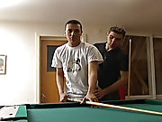 These two athletic broodren guys enjoy a game of pool then decide to include a little fun with there own sticks and balls gay bareback rim felch pis