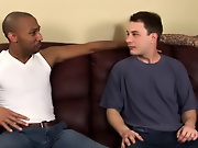 His first huge cock gay interracial sample video