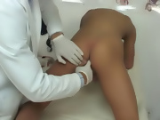 Dr James was pulling on my dick, and asked me if he could help me out with getting one gay college twink boy porn