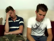 Sean licked the top of Aiden's dick and tasted his precum smooth gay twink