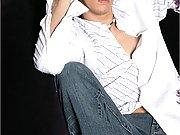 Aaron Carter posing