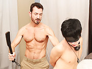 When Bryan Slater has a stressful day at work, he comes home and takes it out on his little slave boy, Kyler Moss hardcore gay porn at Bang Me Sugar D