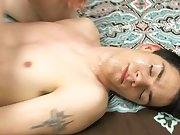 The scene closes with a sticky facial for Thomas young boys first time se